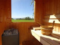 The sauna at Muddy Creek Cutting B&B, Lauder, Central Otago